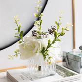 室內花客廳餐桌茶幾絹花假花套裝整體花藝家飾擺件多款【元氣少女】
