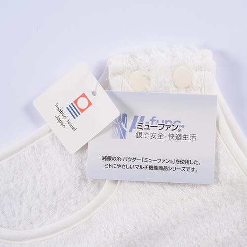 日本製今治毛巾銀抗菌Ag+嬰兒禮盒三件組(白色)-圍巾+圍兜+嬰兒鞋