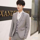 男士結婚小西裝 韓版西服套裝青少年單西外套男正裝職業休閒修身 yu137『男神港灣』