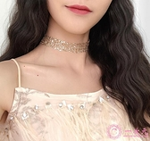 項鍊韓國復古鎖骨項鍊女短款頸帶網紅蕾絲網紗潮choker項鍊脖子飾品項圈