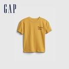 Gap男幼童 環保主題印花純棉短袖T恤 700009-金黃色
