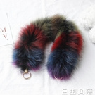 狐貍毛手提帶包包毛毛肩帶皮草包帶女配件斜跨單肩毛絨寬背帶包袋  自由角落