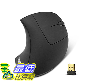 [106美國直購] Anker 2.4G Wireless Vertical Ergonomic Optical Mouse 800/1200/1600DPI 5 Buttons 無線滑鼠