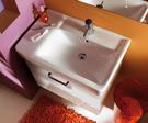 【麗室衛浴】瑞士GEBERIT Plan系列 122175右槽/122180左槽盆+發泡板防水鋼烤浴櫃 75CM