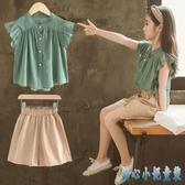女童夏裝2020新款韓版洋氣時髦套裝夏季兒童裝大童時尚短袖兩件套 DR35437【甜心小妮童裝】