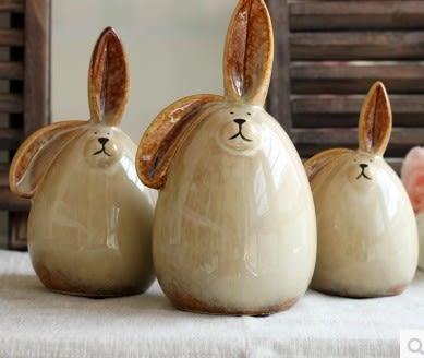 [協貿國際]可愛兔子陶瓷存錢罐單組價(3隻1組)