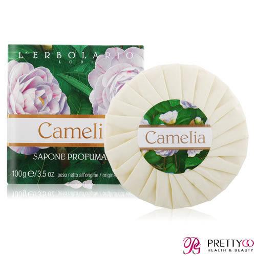 L'ERBOLARIO 蕾莉歐 山茶花香氛植物皂(100g)【美麗購】