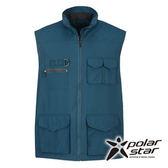PolarStar 中性多口袋保暖背心『灰藍』P15203