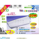 【吸頂燈】T8 LED 20W 低框吸頂...