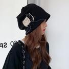 帽子女春秋款月子帽秋冬季冷帽百搭產后包頭帽薄款時尚網紅堆堆帽 黛尼時尚精品