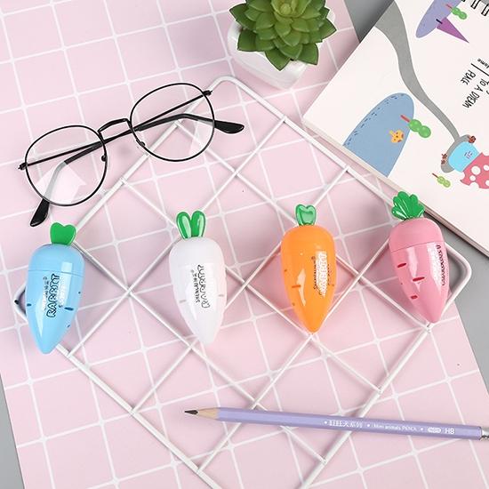 削鉛筆機 削鉛筆 單孔削筆機 削筆器 辦公用品 文具 學生用品 蘿蔔削筆刀【Z061】米菈生活館