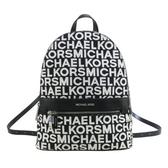 【南紡購物中心】MICHAEL KORS KENLY織布滿版MK拉鍊後背包-大/黑