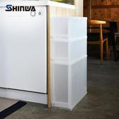 【nicegoods】日本製 Shinwa伸和 滑輪抽屜隙縫櫃(2低1高抽)-17CM寬