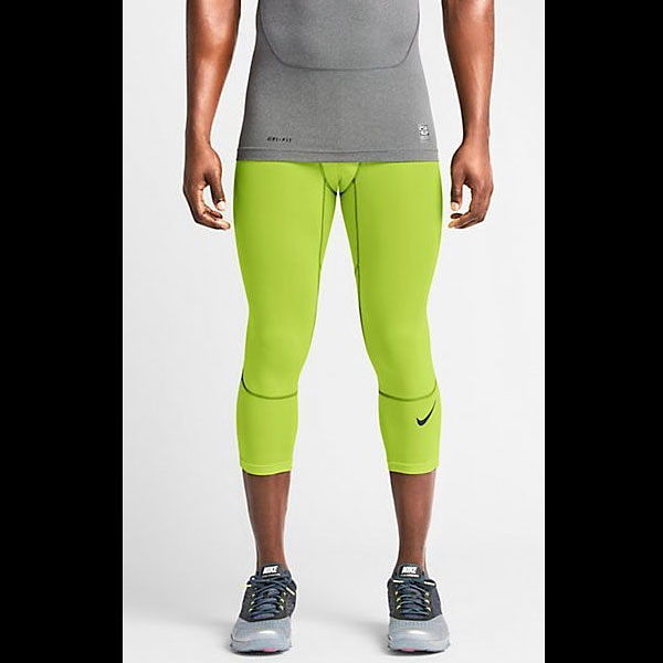NIKE 長束褲 Hypercool 3/4 Tight 七分 緊身 加強 螢黃 636161-702【SP】