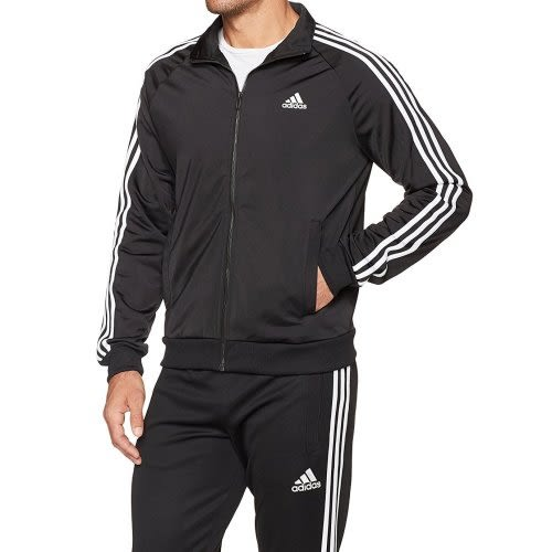 Adidas-  愛迪達Tricot運動立領拉鍊夾克(黑色)
