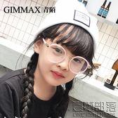 青陌兒童眼鏡防近視防輻射藍光護目鏡圓形可愛玩游戲電腦眼睛(送鏡盒)