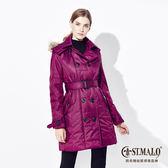 【ST.MALO】PUFFER氣泡蓄熱暖感女風衣-1532WJ-紫紅色