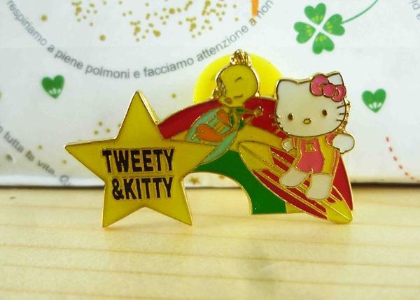 【震撼精品百貨】Hello Kitty 凱蒂貓~KITTY&TW徽章-星星