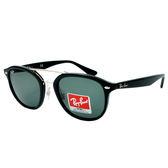 台灣原廠公司貨-【Ray-Ban 雷朋】RB2183-901/71-新上市!雷朋新款太陽眼鏡(銀X黑框/綠鏡面)