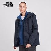 The North Face 男 三合一防水透氣保暖外套 藍 NF0A4NCLLMW【GO WILD】