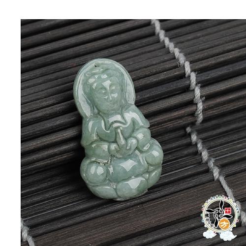 寶瓶觀音玉佩【十方佛教文物】