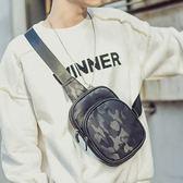 男士韓版帆布胸包男休閒單肩包斜背包跨胸前包迷彩運動腰包小背包       伊芙莎