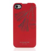 [破盤出清價]COACH流蘇圖紋iPhone4/4S手機殼保護殼(紅色)192771