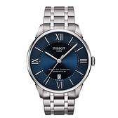 ◆TISSOT◆杜魯爾系列機械動力80腕錶 廣告鐵帶款 T099.407.11.048.00 藍面