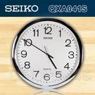 CASIO 手錶專賣店 SEIKO 精工掛鐘 QXA041S/QXA041 白面黑字 清晰舒適掛鐘