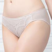 思薇爾-花縷系列M-XL蕾絲低腰三角內褲(乾草膚)