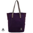 秋冬溫暖 刷毛 手提包 肩背包 紫色 AMINAH~【am-0203】