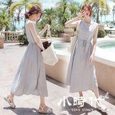 棉麻洋裝-棉麻裙夏季連身裙小清新背心裙及踝過膝長裙港味chic