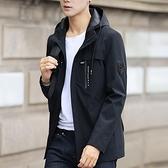 風衣 2021秋冬季新款男士外套韓版修身夾克男裝加絨加厚中長款風衣服男 非凡小鋪