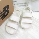 New Balance 運動涼鞋 韓國涼拖鞋 M楦 魔鬼氈 SD3601HBE 男女款 奶茶色【iSport愛運動】