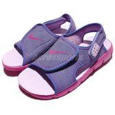 Nike 涼鞋 Sunray Adjust 4 GS PS 紫 紫紅 小朋友 中童鞋 涼拖鞋 【PUMP306】 386520-504
