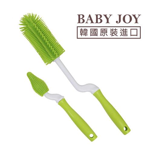 BABY JOY perfection 矽膠奶瓶刷(內附奶嘴刷) - 綠色【佳兒園婦幼館】