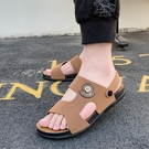 涼鞋 男士男生涼鞋男ins潮2021新款羅馬夏季個性學生青年耐磨防滑軟底【快速出貨八折鉅惠】