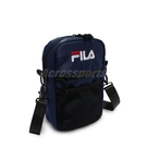 FILA 斜背包 Mesh Pocket Shoulder Bag 深藍 黑 男女款 外出 側背 運動休閒【ACS】 BMV7009NV