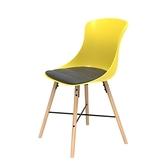 組 - 特力屋萊特 塑鋼椅 櫸木腳架30mm/黃椅背/灰座墊