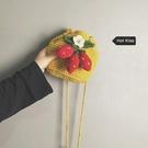 丑萌可愛小包包女包新款潮百搭洋氣斜背包時尚流行側背編織包 麗人印象 全館免運