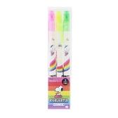 〔小禮堂〕史努比 盒裝雙頭螢光筆組《3入.綠粉黃.彩虹》標示筆.記號筆 4901770-59806