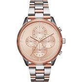 Michael Kors Slater晶鑽計時手錶-玫塊金x雙色/40mm MK6520