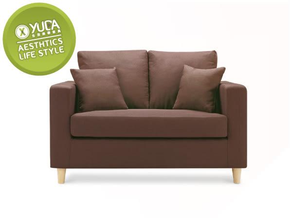 沙發【YUDA】傑西 獨立筒坐墊 亞麻布 沙發椅 雙人 二人 布沙發/沙發椅(附抱枕2個) I8X 602-302