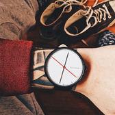 紅點獎簡約大氣錶盤休閒韓版石英錶男女學生情侶手錶