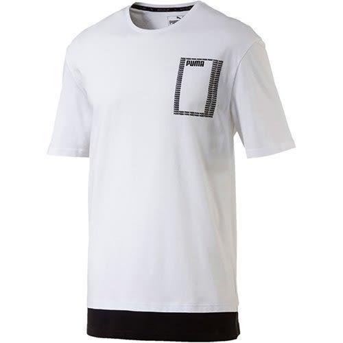 Puma 基本系列 Rebel 男 白 黑 短袖 T恤 運動上衣 短T 休閒 85224602