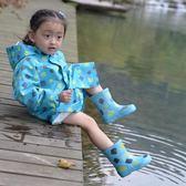印花兒童雨鞋 加厚防滑鞋底天然環保橡膠無異味 美麗伊芙 英雄聯盟