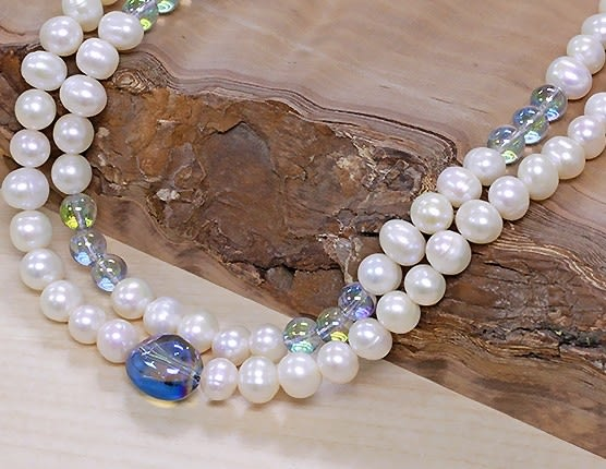 [協貿國際]天然1.5米多層珍珠長項鍊單條價