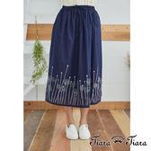 【Tiara Tiara】百貨同步 蒲公英印花半身裙(藍)