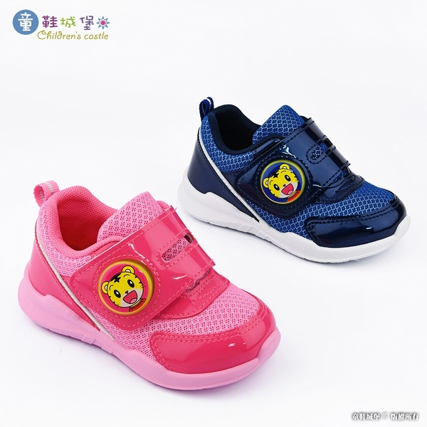 童鞋城堡-LED電燈 透氣運動鞋 巧虎 TR8407-桃/藍 (共二色)
