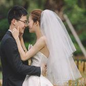 頭紗韓式新娘蓬蓬頭紗超仙多層婚紗新款結婚頭紗簡約短款旅拍造型頭紗 至簡元素